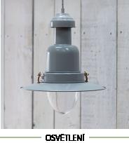 Osvětlení kovové lampy